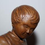 Статуэтка Мальчик с собачкой 1955 год.С грамотой за эту работу., фото №12