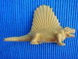 Фигурки динозавры, желтый резиновый INPRO 1972 год, фото №3