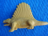 Фигурки динозавры, желтый резиновый INPRO 1972 год, фото №4
