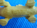Фигурки динозавры, желтый резиновый INPRO 1972 год, фото №5