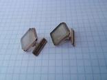 Запонки серебро ☆875 позолота  ,клеймо 1ЛЮ, фото №2