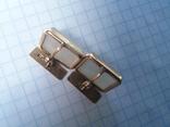 Запонки серебро ☆875 позолота  ,клеймо 1ЛЮ, фото №5