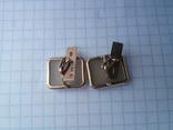 Запонки серебро ☆875 позолота  ,клеймо 1ЛЮ, фото №10