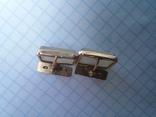 Запонки серебро ☆875 позолота  ,клеймо 1ЛЮ, фото №12