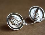 Серебряные серьги с янтарем, фото №7