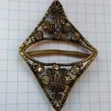 Зажим брошь для галстука с камнями, фото №2