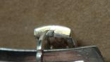 Серебряные серьги с золотом и эмалью, фото №3