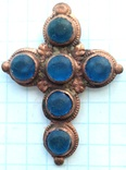Крест с синими камнями 18-19 век (9_114), фото №2