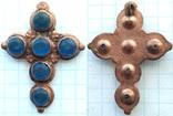 Крест с синими камнями 18-19 век (9_114), фото №4