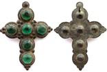 Крест большой с зелеными камнями 18-19 век (9_120), фото №4