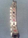 Браслет от давления из нержавеющей стали с магнитными вставками, фото №6