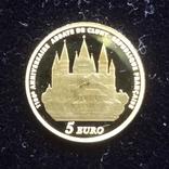 5 евро 2010 Франция 1100 лет Аббатству Клюни   золото 999  тираж 3861, фото №9