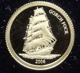 10 долларов 2006  Либерия Парусник   золото 999, фото №2