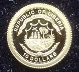 10 долларов 2006  Либерия Парусник   золото 999, фото №3