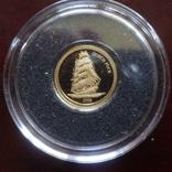 10 долларов 2006  Либерия Парусник   золото 999, фото №5