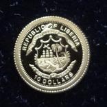 10 долларов 2006  Либерия Парусник   золото 999, фото №10