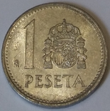 Іспанія 1 песета, 1988