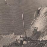 Старинная гравюра. 1835 год. Плот. Викерс. (29,8х21,5см.)., фото №3