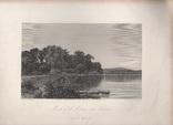 Старинная гравюра. 1870 год. Уста Мудны на Гудзоне. Девид Джонсон. (32х24см.)., фото №5