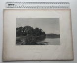 Старинная гравюра. 1870 год. Уста Мудны на Гудзоне. Девид Джонсон. (32х24см.)., фото №7