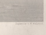 Старинная гравюра. 1870 год. Уста Мудны на Гудзоне. Девид Джонсон. (32х24см.)., фото №11
