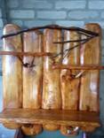 Авторская декоративная полка из натуральной древесины, фото №9