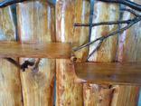 Авторская декоративная полка из натуральной древесины, фото №12