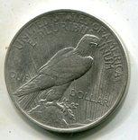 Мирный доллар 1922 г. Серебро., фото №3