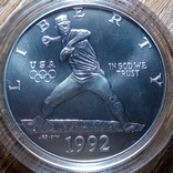 США 1 доллар 1992 г., фото №2