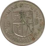 Маврикий 1 рупия 1991, фото №2