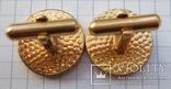 Запонки манжетные золотистые малые., фото №7