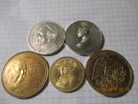 Памятные жетоны 5 штук, фото №2