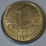 Бразилія 1 сентаво, 1997