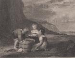 Старинная гравюра. 1836 годa. Дети рыбака.(18,5х12,5см.)., фото №2