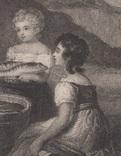 Старинная гравюра. 1836 годa. Дети рыбака.(18,5х12,5см.)., фото №4