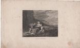 Старинная гравюра. 1836 годa. Дети рыбака.(18,5х12,5см.)., фото №5