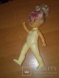 Куколка с розовой чёлкой 26 см, фото №5