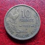 10 франков 1951 В  Франция    ($7.2.22)~, фото №2