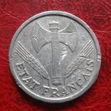 1 франк 1943  Франция     ($7.4.27)~, фото №3
