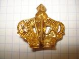 Кокарда - корона - армия Голландии (тяж.металл), фото №3