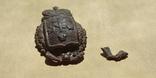 Кокарда полицейского Херсонской губернии с остатками позолоты, фото №8