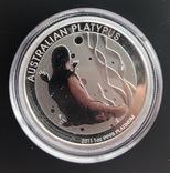 100 $ 2011 год Австралия «Утконос» платина 31,1 грамм 999,5', фото №2