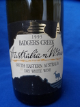 Вино Badgers Creek 1995 south eastern AUSTRALIA dry white wine