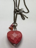 Красный кулон в виде сердца с англии, фото №2