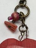 Красный кулон в виде сердца с англии, фото №3