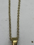 Золотистый кулон в виде сердца на цепочке, фото №4