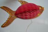 Елочная бумажная игрушка-гирлянда Рыбка, СССР, фото №4