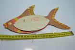 Елочная бумажная игрушка-гирлянда Рыбка, СССР, фото №7