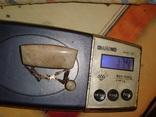 Уральская брошь серебро 875 проба с камнем, фото №13