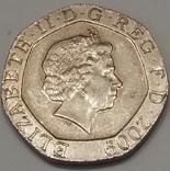 Велика Британія 20 пенсів, 2009 фото 2